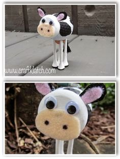 cow, cow craft, craft, crafts, crafting, craft ideas, recycle, recycling, golf ball, golf balls, handmade, homemade, diy, idea, ideas, kid craft, kids craft, crafts for kids
