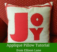 Joy Christmas Pillow - Seasonal Sewing Series