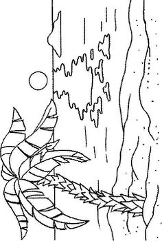 coloring page ocean landscapes with palm trees - Google Search ...