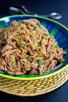 This Slow Cooker Teriyaki Pulled Pork is fantastic over rice, in tacos with slaw or on hamburger buns. Throw it all in the crockpot and walk away!