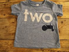 Tractor shirt perfect for farm truck or tractor party boys birthday shirt custom  organic blend on Etsy, $32.00