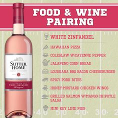 Sutter Home Wine & Food Pairing Series: White Zinfandel and tailgating at home.