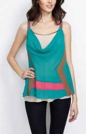 Geometric Color Block Layered Top #wholesale #clothing #fashion #love #ootd #wiwt #pants #skirts #dresses #tops #outerwear #sweaters #burgundy #winter #coats #jackets #pants