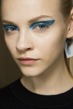 Christian Dior / Blue eye make-up was not a one-season wonder, it turns out - it returned for autumn in shades of sapphire, azure, cerulean and cobalt at shows from Dior to Kenzo. This season it was joined by purple at Burberry Prorsum, Chloé and Diane von Furstenberg, and khaki at Derek Lam, Antonio Berardi and Anna Sui - it's certainly not a season to be afraid of colour.
