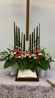 Church Altar Flower Arrangement