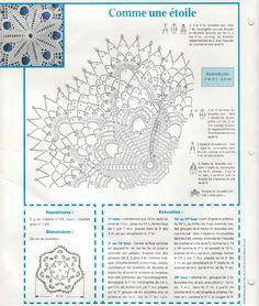 modèle napperon étoile