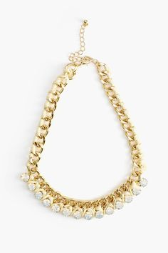 Woven Crystal Collar Necklace