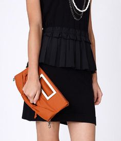 Top-Fold Convertible Faux Leather Clutch