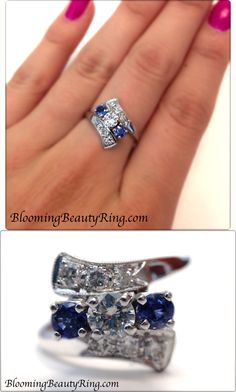 A gorgeous Vintage Sapphire and Diamond Ring! So Pretty!!