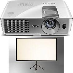 BenQ W1070+ 3D Heimkino DLP-Projektor + celexon Beamer Leinwand - http://kameras-kaufen.de/products/2-200-ansi-lumen-benq-w1070-w-3d-wireless-dlp-full-hd