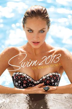 Victoria's Secret Swim 2013 catalog with Candice Swanepoel (this was her third year in in row on the annual VS Swim catalogue cover).