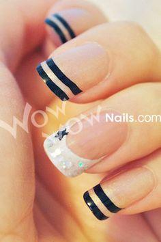 Black and White Nails - Uñas blanco y negro