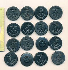 """Set of 24 Vintage 1//2/"""" 4 hole White Glass Underwear Buttons ~new//old stock"""