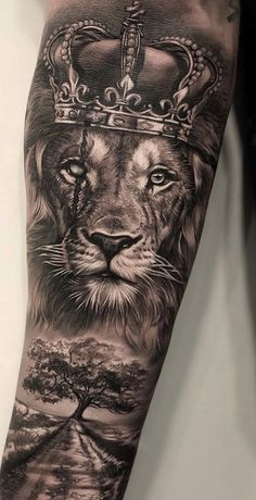 Discover recipes, home ideas, style inspiration and other ideas to try. Lion Forearm Tattoos, Lion Head Tattoos, Mens Lion Tattoo, Forearm Tattoo Men, Hand Tattoos, Budist Tattoo, Lion Arm Tattoo, Tattoo Flash, Lion Tattoo Sleeves