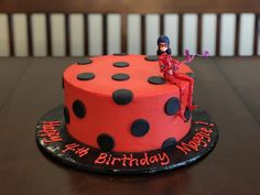 It's a Miraculous Ladybug cake for Maggie's birthday celebration! 🐞 This white cake is decorated with buttercream frosting and fondant accents. Taste and see that the Lord is good! Thanks for allowing Cristin to serve you! 7th Birthday Cakes, Birthday Party Favors, Baby Birthday, Birthday Parties, Birthday Celebration, Birthday Ideas, Miraculous Ladybug Party, Ladybug Cakes, Mermaid Theme Birthday