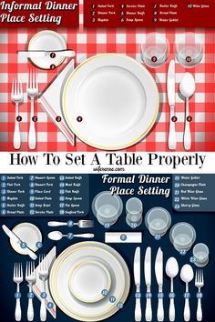 Easy-to-follow diagram of how to set a table.