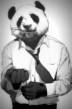 I'll have my forever real panda Character Concept, Character Art, Concept Art, Character Design, Panda Art, Dope Art, Art Floral, Furry Art, Fantasy Art