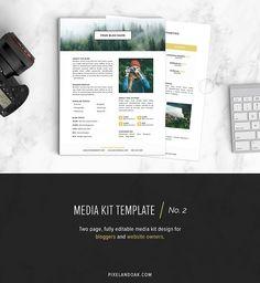 Media Kit Template | No. 2 by Pixel & Oak on @creativemarket