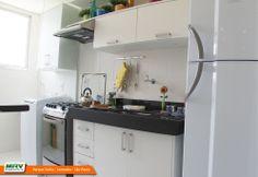 Apartamento decorado 2 dormitórios do Parque Sicília no bairro Alto do Campolim - Sorocaba - SP - MRV Engenharia - Cozinha.