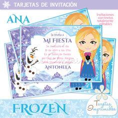 Kit imprimible Frozen para cumpleaños temático