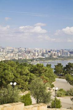 View of Baku, Azerbaijan and the Caspian Sea