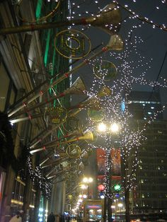 State Street, Chicago, at Christmas time