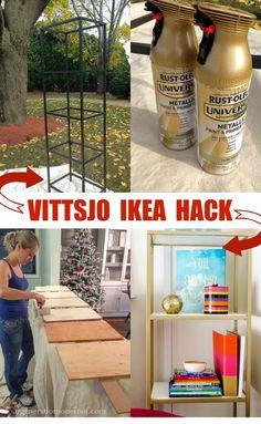 Ikea Hack Vittsjo Shelving {spray paint + wood shelving}