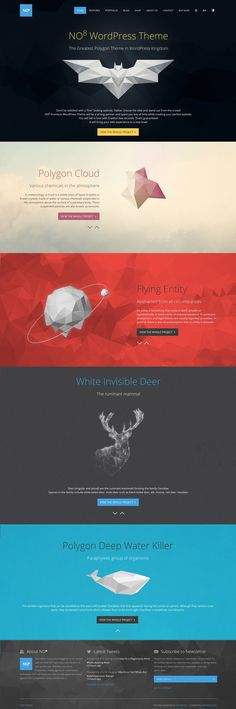 nice use of color in one-page design without many photos (but don't like these images) creative portfolio theme