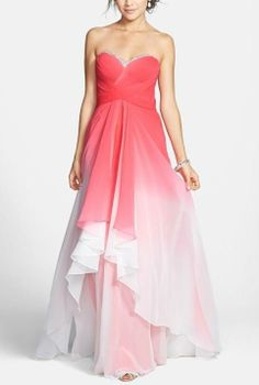 Pink ombre gown jaglady