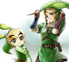 Toon Link and Link