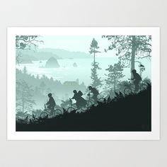 Goonies+Never+Say+Die+Art+Print+by+Ape+Meets+Girl+-+$18.99