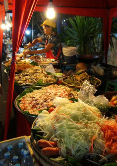 Night market in Chiang Mai, Thailand. One of my favorite evening excursions.