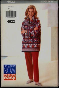 Uncut 90s Size L XL Bust 38 40 42 44 Easy by VintagePatternsCo1