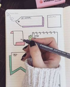 Cute Little notes for a bujo Bullet Journal Inspo, My Journal, Journal Pages, Journals, Bullet Journal Frames, Bullet Journal Ideas Handwriting, Bullet Journal Titles, Filofax, Lettering Brush