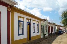 Foto do casario de Tiradentes, Minas Gerais.