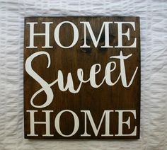 Home Sweet Home {Rustic Home Decor} by VelleDesigns on Etsy