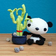 Found at Amigurumipatterns.net I want to make this. Since I managed to kill my bamboo at work.