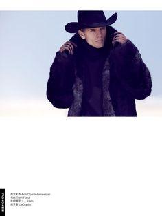 gq ch003 Benjamin Eidem is a Wild Cowboy for GQ China