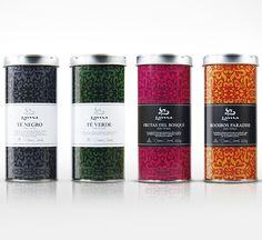 Lama premium tea - by CBA Graell Spain  #branding #packaging #design #pattern #typography