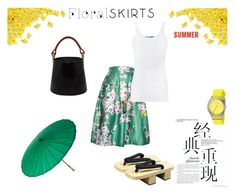 Floral skirt - Japan style by nefertiti001 on Polyvore featuring Vince, Relaxfeel, Kenzo, Nixon, Cultural Intrigue and Floralskirts