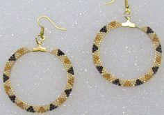 Hand Beaded Hoop Earrings Native American by TheBeadedDiamond Bead Jewellery, Beaded Jewelry, Handmade Jewelry, Tribal Jewelry, Bohemian Jewelry, Earrings Handmade, Seed Bead Bracelets, Seed Bead Earrings, Hoop Earrings