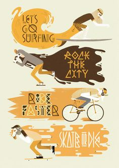 Go/Go/Go Illustrations by Jose Miguel Méndez, via Behance