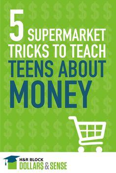 5 Supermarket Tricks To Teach Teens About Money #education #classroom #finance
