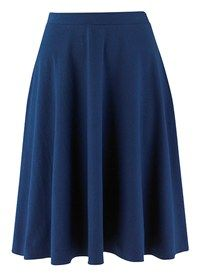 People Tree   Lizzy Black Flared Jersey Skirt
