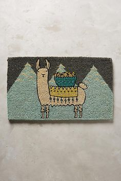 Anthropologie Mountain Llama Doormat #anthrofave