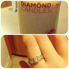 I so want one of these! Each Diamond Candle contains a diamond ring worth $10 to $5,000. Sweet!
