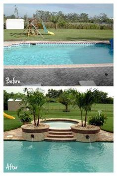 Having a pool sounds awesome especially if you are working with the best backyard pool landscaping ideas there is. How you design a proper backyard with a pool matters. Backyard Pool Landscaping, Backyard Pool Designs, Backyard Retreat, Swimming Pool Designs, Modern Landscaping, Landscaping Ideas, Pool Landscape Design, Garden Design, My Pool