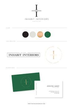 Branding for INHABIT INTERIORS, designed by Studio 9 Co.