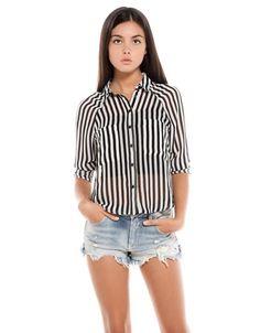 Bershka México - Camisa BSK estampado rayas