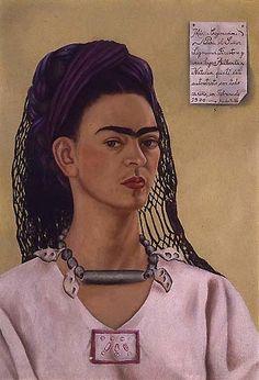 Frida Kalho. Autorretrato. 1940
